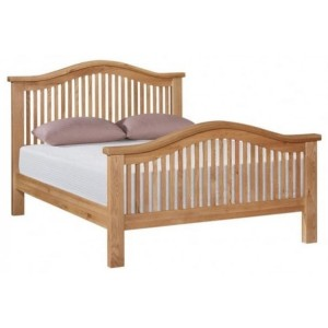 Canterbury Wax Oak Furniture 4ft6in Double Bed Frame