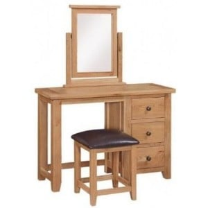 Canterbury Wax Oak Furniture Dressing Table Only