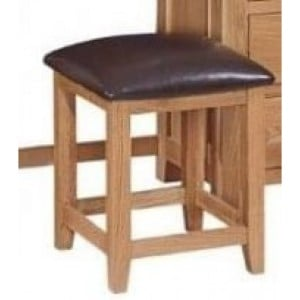 Canterbury Wax Oak Furniture Dressing Table Stool