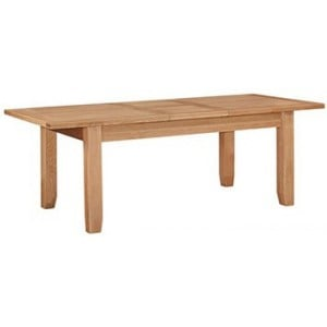 Canterbury Wax Oak Furniture Medium Extending Dining Table 140-180cm