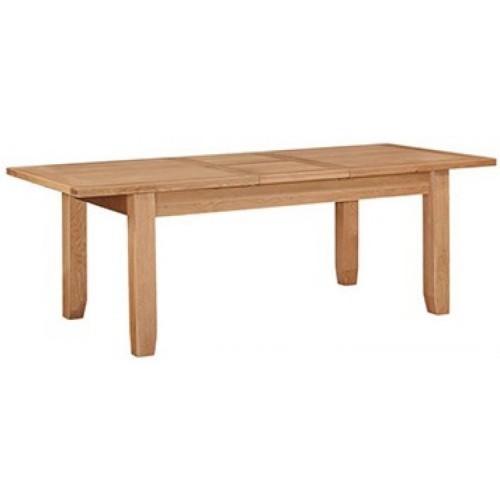 Canterbury Wax Oak Furniture Medium Extending Dining Table 140-180cm