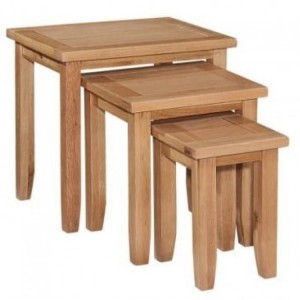 Canterbury Wax Oak Furniture Nest of Tables