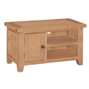Canterbury Wax Oak Furniture Small Media Entertainment TV Unit