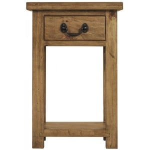 Fairford Rustic Furniture 1 Drawer Console Table