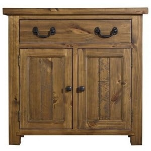 Fairford Rustic Furniture 2 Door 1 Drawer Sideboard