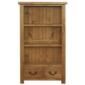 Fairford Rustic Furniture 2 Drawer Bookcase