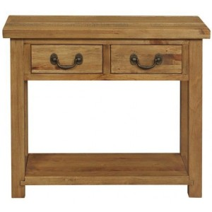 Fairford Rustic Furniture 2 Drawer Console Table with Shelf