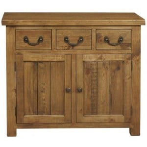 Fairford Rustic Furniture 3 Drawer 2 Door Sideboard