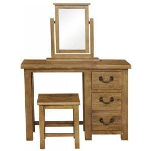 Fairford Rustic Furniture 3 Drawer Dressing Table Only