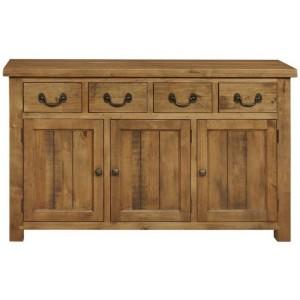 Fairford Rustic Furniture 4 Drawer 3 Door Wide Sideboard