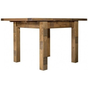 Fairford Rustic Furniture Extending Dining Table 90-130cm