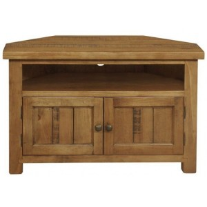 Fairford Rustic Furniture Large 2 Door Corner TV Unit