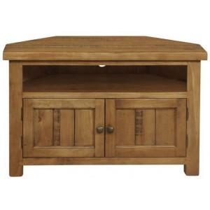 Fairford Rustic Furniture Large 2 Door Corner TV Unit