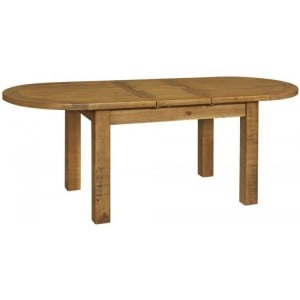 Fairford Rustic Furniture Oval Extending Dining Table 180-220cm