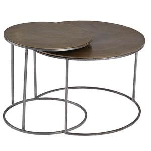 Ferro Circular Brass Nest of Tables