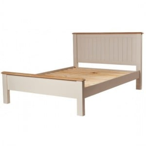 Freya Putty Bedroom Furniture 4ft6in Double Bed Frame