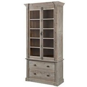 Hanoverian Reclaimed Pine 2 Door 2 Drawer Glazed Display Unit