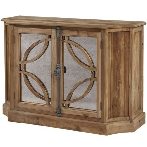 Hanoverian Reclaimed Pine 2 Door Lattice Sideboard with Spindle Latch