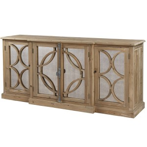 Hanoverian Reclaimed Pine 4 Door Lattice Sideboard with Spindle Latch