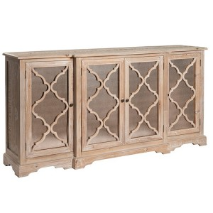 Hanoverian Reclaimed Pine Furniture 4 Door Sideboard