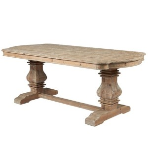 Hanoverian Reclaimed Pine Furniture Kidney End Dining Table