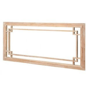 Hanoverian Reclaimed Pine Furniture Large Rectangular Wall Mirror