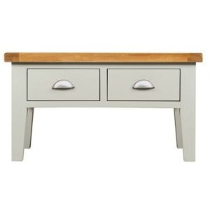Hove Grey Painted Furniture 2 Drawer Small Coffee Table