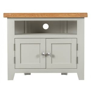 Hove Grey Painted Furniture 2 Door Corner TV Unit
