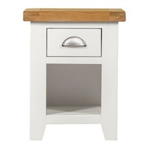 Hove Off-White Painted Furniture 1 Drawer Bedside Cabinet