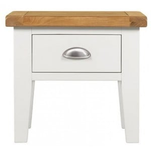Hove Off-White Painted Furniture 1 Drawer Lamp Table