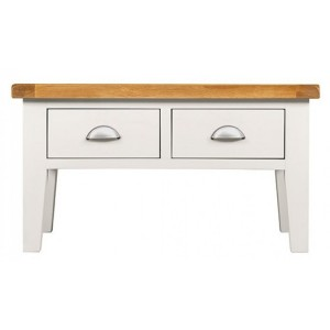 Hove Off-White Painted Furniture 2 Drawer Small Coffee Table