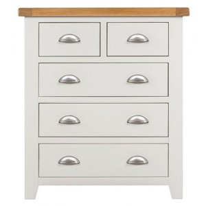 Hove Off-White Painted Furniture 2 Over 3 Chest of Drawers