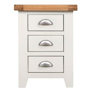Hove Off-White Painted Furniture 3 Drawer Bedside Cabinet