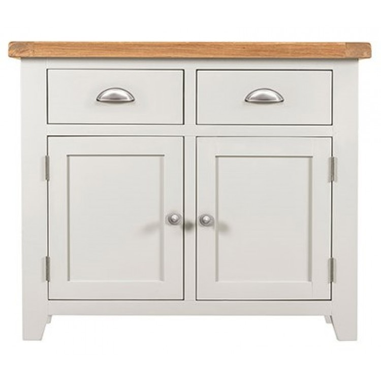 Hove Off White Painted Furniture Narrow 2 Doors 2 Drawer