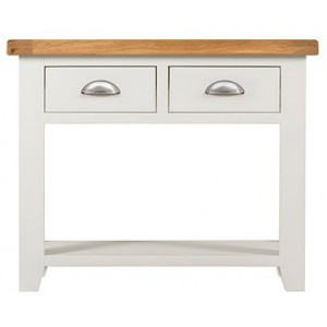 Hove Off-White Painted Furniture 2 Drawer Console Table