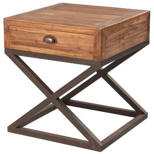 Kingsley Furniture 1 Drawer X Base Lamp Table