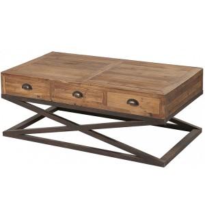 Kingsley Furniture 6 Drawer X Base Coffee Table