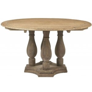 Kingsley Furniture Circular Dining Table with Pedestal Base