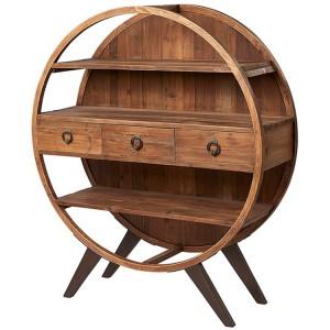 Kingsley Furniture Circular Display Cabinet