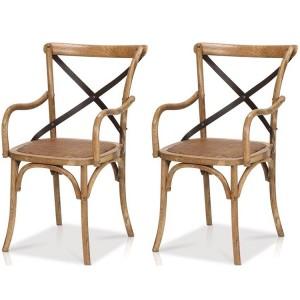 Kingsley Furniture Cross Back Dining Armchair Pair