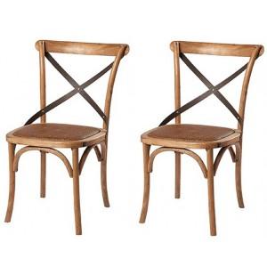 Kingsley Furniture Cross Back Dining Chair Pair