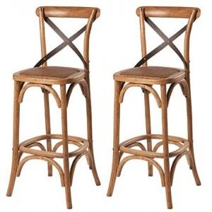 Kingsley Furniture Cross Back Pair of Barstools