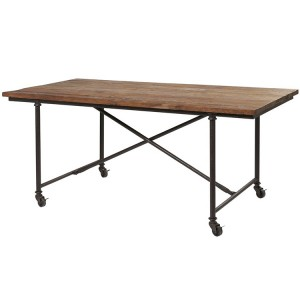 Kingsley Furniture Dining Table on Rollers