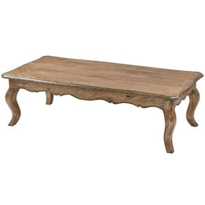 Kingsley Furniture Elm Louis Coffee Table with Bow Legs