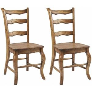 Kingsley Furniture Verdigris Fixed Dining Chair Pair