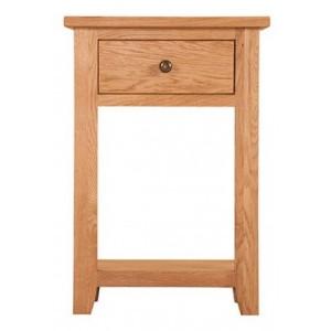 Mini Canterbury Oak Furniture 1 Drawer Console Table