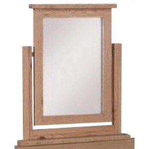 Mini Canterbury Oak Furniture Dressing Table Mirror Only