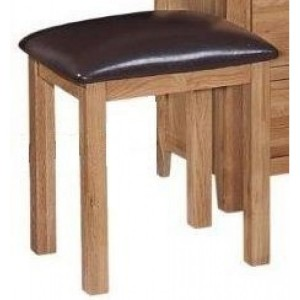 Mini Canterbury Oak Furniture Dressing Table Stool Only