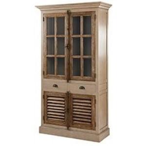 Pioneer Teak Furniture 2 Door Glazed Display Unit