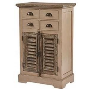Pioneer Teak Furniture 4 Drawers 2 Doors Sideboard